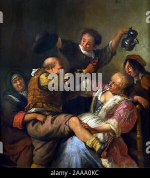 Loose society 1678 by, Jan Havickszoon Steen, 1626 - 1679, Dutch, The Netherlands - Stock Photo