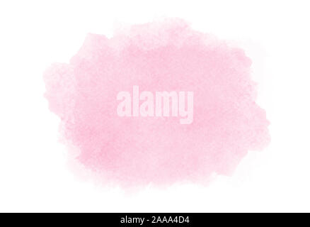 Pink watercolor on white backgroung - Stock Photo