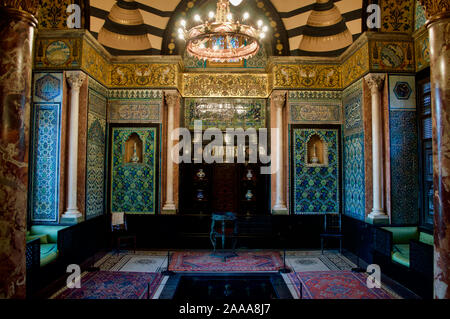 The Arab Hall in the Leighton House Museum in London, UK - Stock Photo