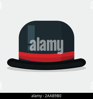bowler hat vector illustration on white background - Stock Photo