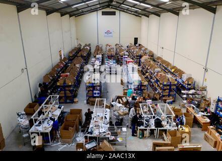 Beijing, China. 1st Nov, 2019. Photo taken on Nov. 1, 2019 shows a warehouse of e-commerce platform Kilimall in Nairobi, capital of Kenya. Credit: Yang Zhen/Xinhua/Alamy Live News - Stock Photo