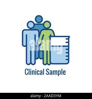 Science & Research Icon showing one part of the scientific process - Stock Photo