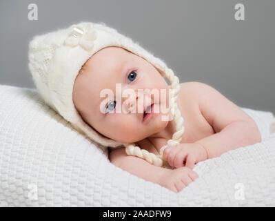 Baby, 3 Monate alt , Maedchen, Portraet, - Stock Photo