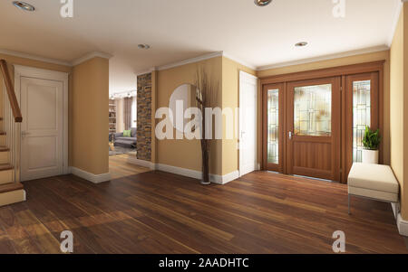 Big Foyer in Country House - Stock Photo