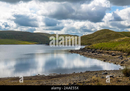 The Teifi Pools tucked away in the Cambrian Hills, or Mountains, in Cardiganshire, or in welsh, Ceredigion, West Wales - Stock Photo