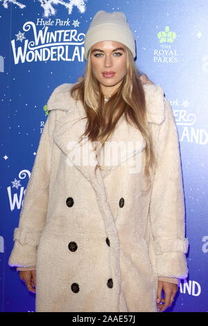 LONDON, UNITED KINGDOM - NOVEMBER 20 2019:Arabellla Chi attends the Winter Wonderland VIP launch night at Hyde Park in London. - Stock Photo