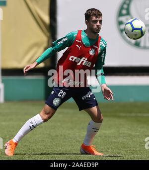 SÃO PAULO, SP - 21.11.2019: TREINO DO PALMEIRAS - Hyoran, from SE Palmeiras, during training at the Football Academy. (Photo: Cesar Greco/Fotoarena) - Stock Photo