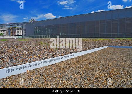 Dokumentationszentrum Topographie des Terrors, ehemaliges Gelände von Gestapo, SS und Reichssicherheitshauptamt, Berlin, Deutschland - Stock Photo