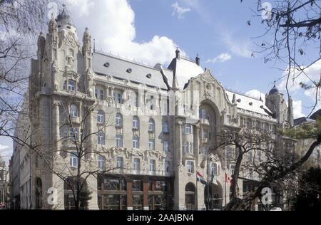Budapest, Gresham Palace, Zsigmond Quittner 1905-1907 - Stock Photo