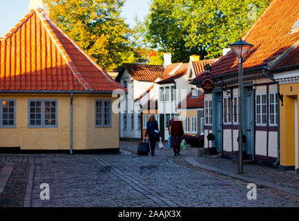 Odense old town, Funen, Denmark - Stock Photo