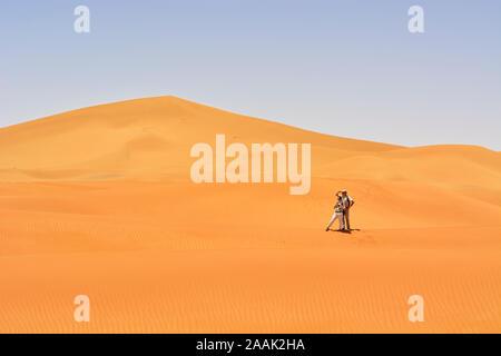 Erg Chigaga sand dunes, Sahara desert. Morocco