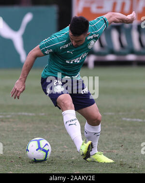 SÃO PAULO, SP - 22.11.2019: TREINO DO PALMEIRAS - Willian, from SE Palmeiras, during training at the Football Academy. (Photo: Cesar Greco/Fotoarena) - Stock Photo