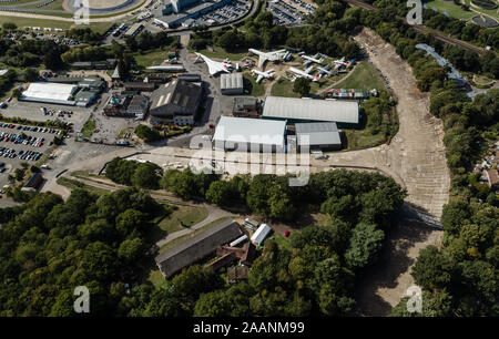 Brooklands Museum from the Air - Stock Photo