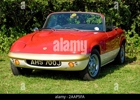 A 1970 registered Lotus Elan classic sports car - Stock Photo