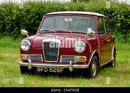 Selwood,Wiltshire / UK - May 26 2019:A Riley Elf Mk III, SFD 526F, first registered in 1968, pictured at the Selwood Vintage Vehicle & Steam Fair 2019 - Stock Photo