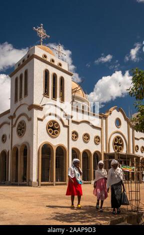 Ethiopia, Gamo-Gofa, Arba Minch, new Orthodox Medhane Alem church - Stock Photo