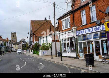 High Street Cafe, Walton-on-the-Naze, Essex, UK. - Stock Photo