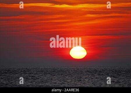 Sonnenuntergang an der Ostsee - Stock Photo