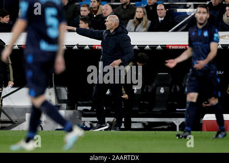 Madrid, Spain. 23rd Nov, 2019. Soccer of La Liga match 14 Real Madrid against Real Sociedad held at the Santiago Bernabeu stadium, in Madrid. Credit: dpa picture alliance/Alamy Live News - Stock Photo
