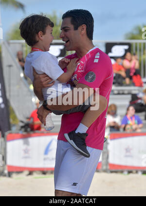 Florida, USA. 23rd Nov, 2019. Miami Beach, FL - NOVEMBER 23: attends the Celebrity Soccer Match Benefiting Best Buddies Charity at the North Beach Sand-Bowl on November 23, 2019 in Miami Beach, Florida. Credit: Storms Media Group/Alamy Live News