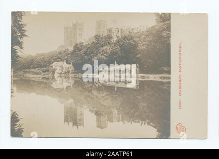 Durham Cathedral 1905-1915. Known as the 'art reproduction' series.; Durham Cathedral - Stock Photo