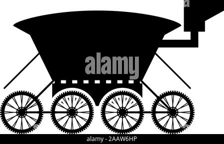 Moon rover Mars explorer Space machine Planets vehicle icon black color vector illustration flat style simple image - Stock Photo