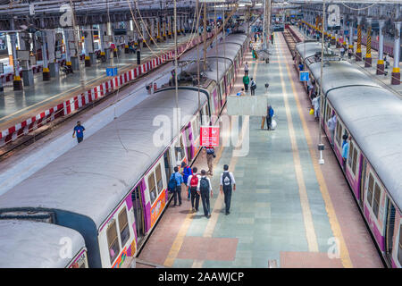 The suburban railway in Mumbai India