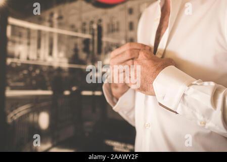 man getting dressed - Stock Photo