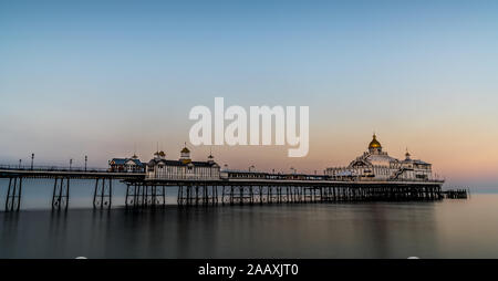 Eastbourne Pier is a seaside pleasure pier in Eastbourne, East Sussex, on the south coast of England. - Stock Photo