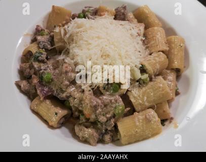 Maccheroni alla pastora a typical pasta from South Tyrol. - Stock Photo