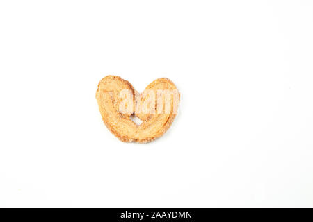 layered shortbread cookies on white isolated background - Stock Photo