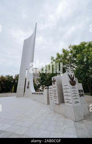 Warsaw, Poland - July 21, 2019: Monument to the Polish Underground State and Home Army - Stock Photo