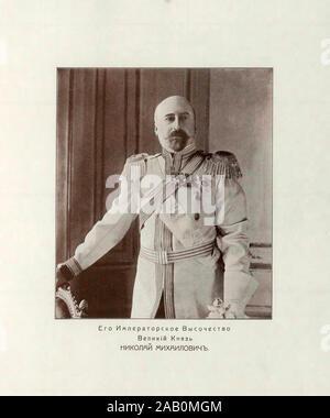 Grand Duke Nicholas Mikhailovich of Russia (1859 – 1919) was the eldest son of Grand Duke Michael Nikolaevich of Russia and a first cousin of Alexande - Stock Photo