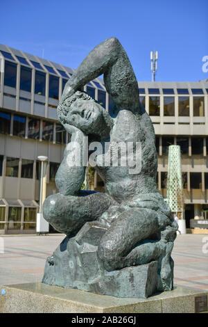 Kunstwerk 'Passione per l´arte' von Sandro Chia, Neues Rathaus, Niederwall, Bielefeld, Nordrhein-Westfalen, Deutschland - Stock Photo