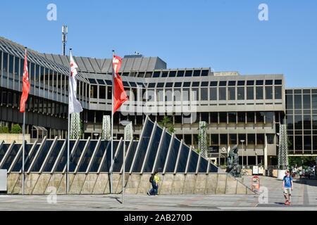 Neues Rathaus, Niederwall, Bielefeld, Nordrhein-Westfalen, Deutschland - Stock Photo