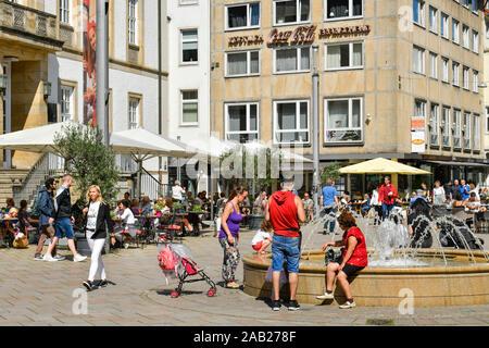 Alter Markt, Bielefeld, Nordrhein-Westfalen, Deutschland - Stock Photo