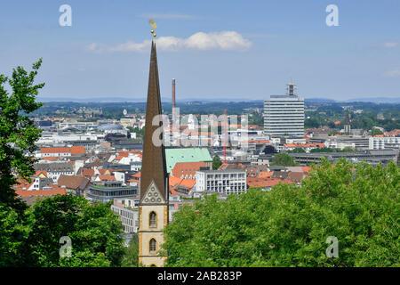 Stadtpanorama, Bielefeld, Nordrhein-Westfalen, Deutschland - Stock Photo