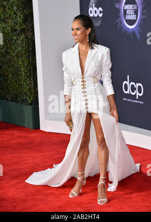 Los Angeles, California, USA. 24th Nov, 2019. Misty Copeland at the 2019 American Music Awards at the Microsoft Theatre LA Live. Picture Credit: Paul Smith/Alamy Live News - Stock Photo