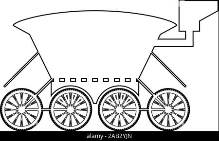 Moon rover Mars explorer Space machine Planets vehicle icon outline black color vector illustration flat style simple image - Stock Photo