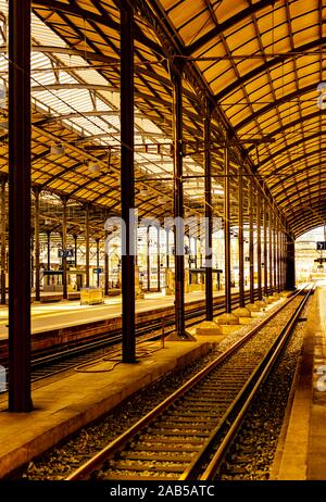 Railroad Station in Lucerne, Switzerland. - Stock Photo
