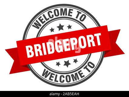 Bridgeport stamp. welcome to Bridgeport red sign - Stock Photo