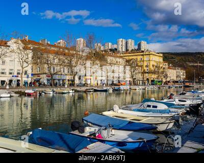 So called Death channel port facility in town Rijeka in Croatia - Stock Photo
