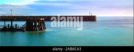 Shoreham by Sea Marina Arm - Stock Photo