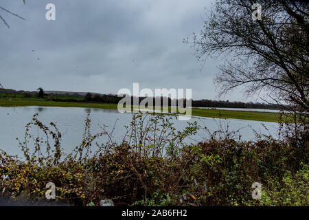 The outskirts of flood hit village of Fishlake near Doncaster South Yorkshire. - Stock Photo
