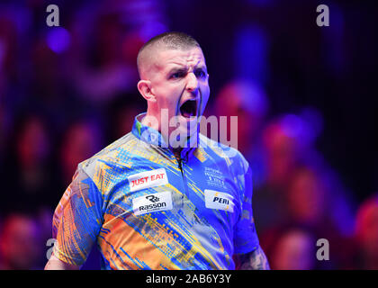 LAS VEGAS, USA. 26th Nov, 2019. Jayson Show shooting out during Day 1 Session of MOSCONI CUP XXVI at Mandalay Bay on Tuesday, November 26, 2019 in LAS VEGAS, USA. Credit: Taka G Wu/Alamy Live News - Stock Photo
