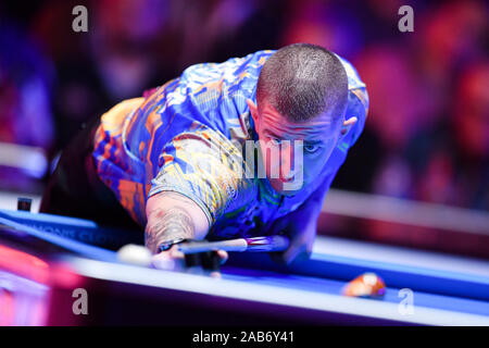 LAS VEGAS, USA. 26th Nov, 2019. Jayson Show during Day 1 Session of MOSCONI CUP XXVI at Mandalay Bay on Tuesday, November 26, 2019 in LAS VEGAS, USA. Credit: Taka G Wu/Alamy Live News - Stock Photo