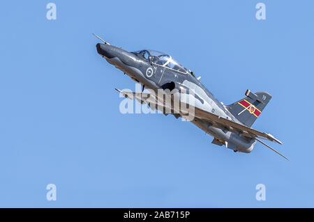 Royal Australian Air Force BAE Hawk 127 lead-in fighter trainer aircraft in flight - Stock Photo
