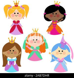 Beautiful girl princesses. - Stock Photo