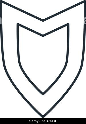 medieval shield with flat style icon vector illustration design - Stock Photo