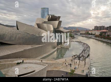 Guggenheim Museum in Bilbao, Vizcaya, Basque Country, Euskadi, Spain, Europe